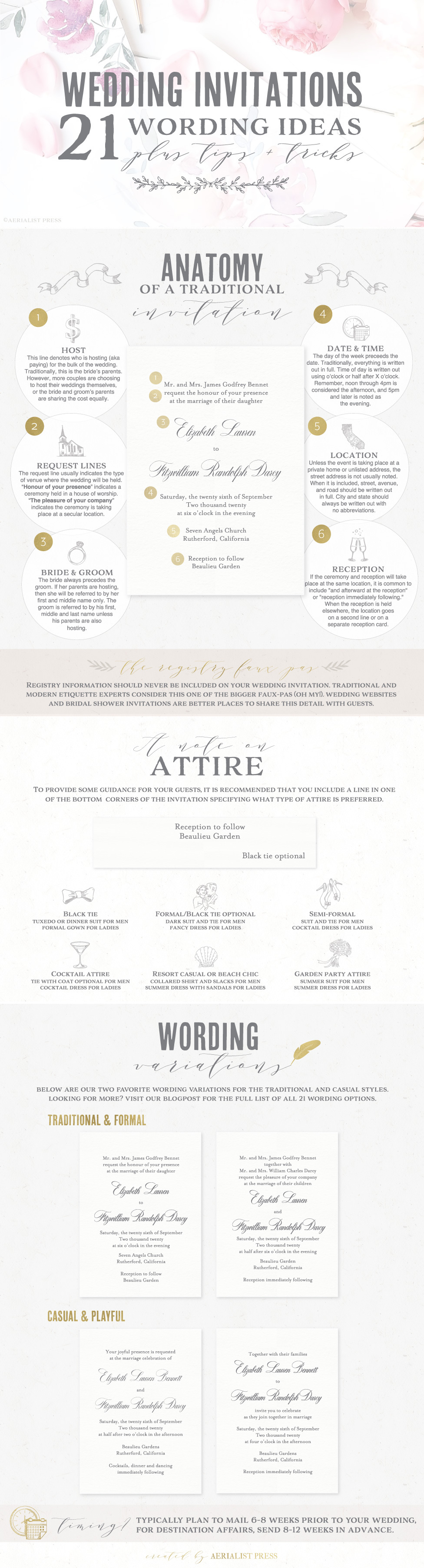21 best wedding invitation wording ideas aerialist press pin it on pinterest stopboris Choice Image