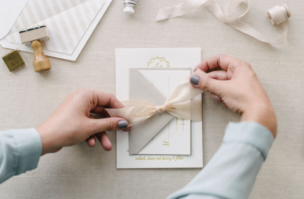 Q&A | What\'s the proper way to assemble wedding invitations ...