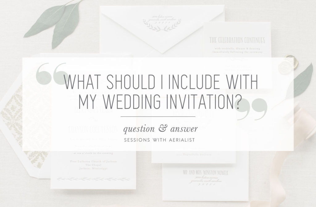 Q A What Should I Include With My Wedding Invitation