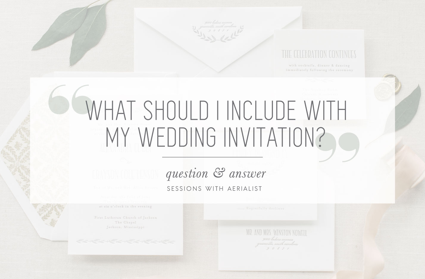 What To Include With My Wedding Invitation