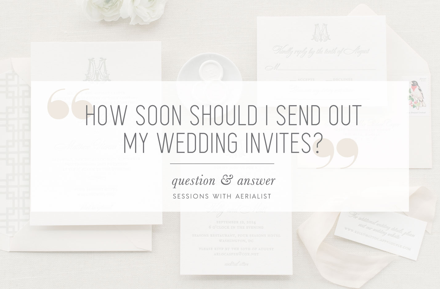 How Soon Before A Wedding Should You Send Out Invitations: When To Send Out Your Wedding Invitations