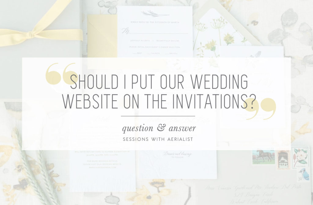 What To Include In A Wedding Invitation: Where Should I Share Our Wedding Website