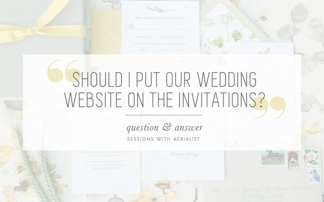 Q&A | Where should I share our wedding website?