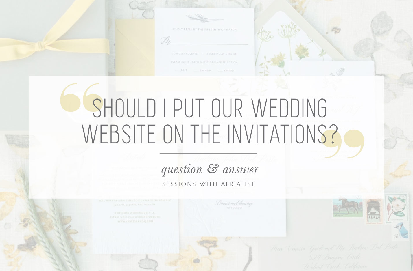 Q&A | Where should I share our wedding website? - Aerialist Press Blog